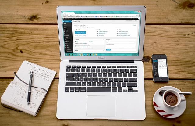 laptop, wordpress, wordpress design