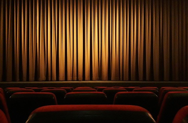 cinema, curtain, theater